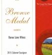 Bronze Medal 2015 Cabernet Sauvignon