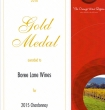 Gold Medal 2015 Chardonnay