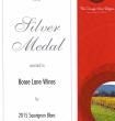 Silver Medal 2015 Sauvignon Blanc