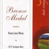 Bronze Medal 2012 Sauvignon Blanc