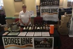 Carmel at the Boree Lane Wines table